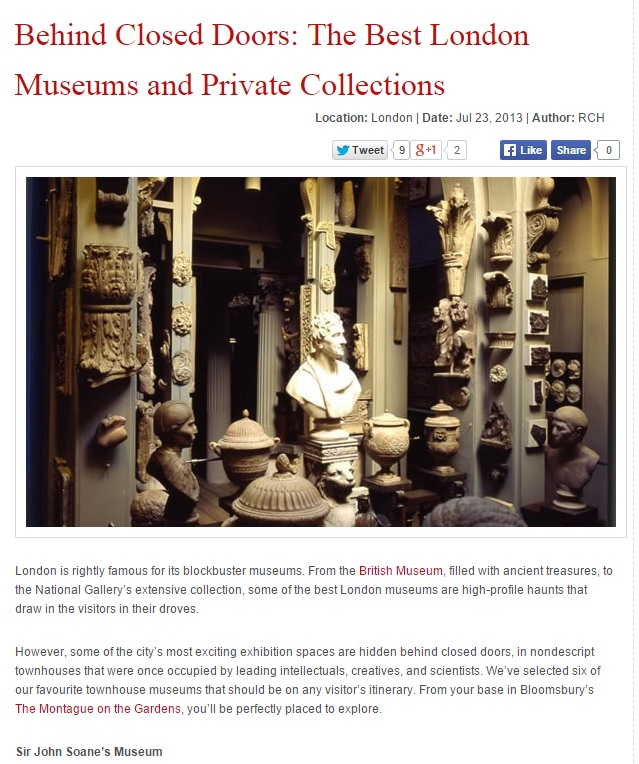 Blog post obscure London Museums