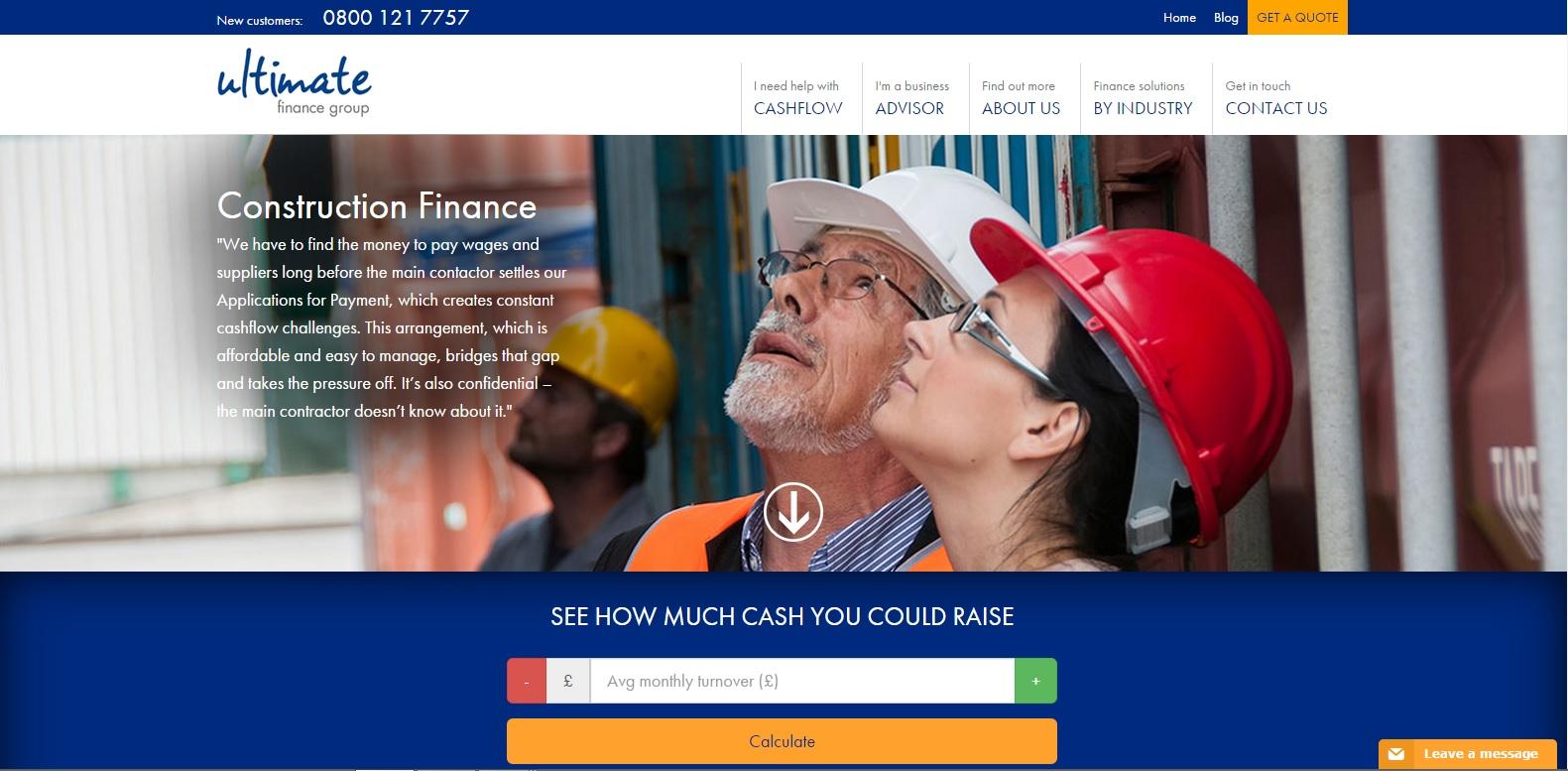 Ultimate Finance Construction Finance