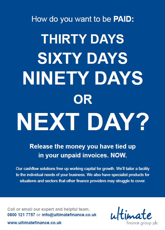 Ultimate Finance paid next day ad
