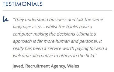 Ultimate Finance testimonial