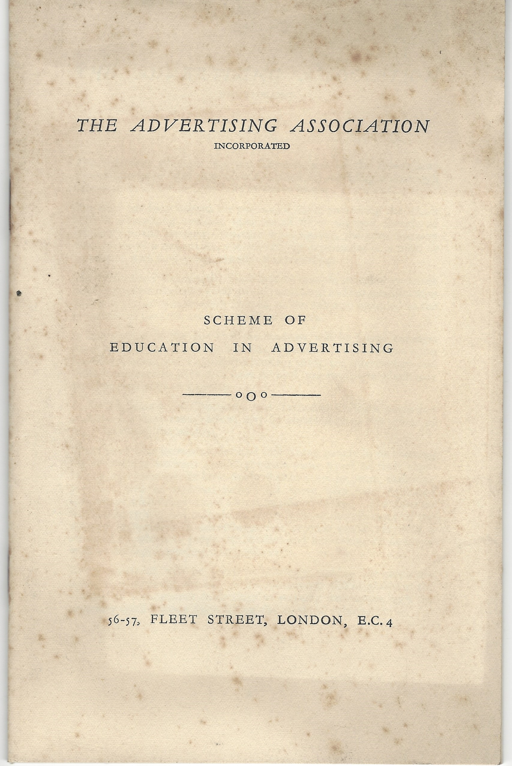 1929 advertising course