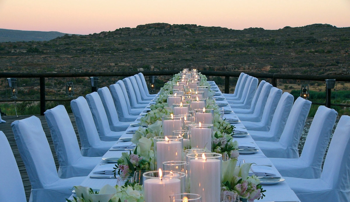 Bushmans kloof wedding dinner