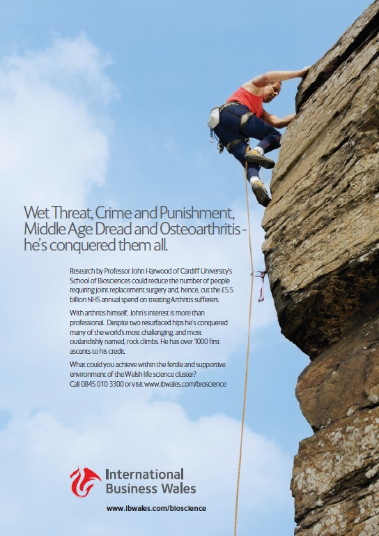 International Business Wales climber