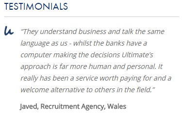 Ultimate Finance testimonial